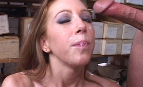 Fiery redhead accepts thick dick by several guys