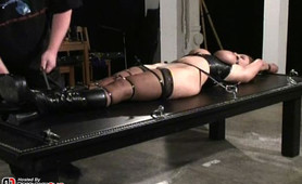 A breast bondage session featuring a good caning really brightens up my day.