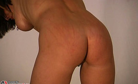 When my slave is extra naughty I torture her tits and then give her a good caning session.