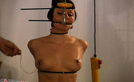 When a slave is particularly naughty I take her breast bondage session to the next level.