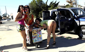 Fuck team veterans Claire Dames, Tory Lane and Alexa Jordan are tearing up the streets of LOS SCANDALES with a smile and a hunger for cock!