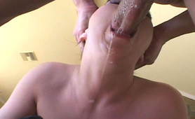 Ashley Blue allows a cock and sperm to enter her mouth