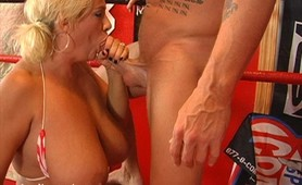 Claudia-Marie Uses Her Monster Tits In The Ring