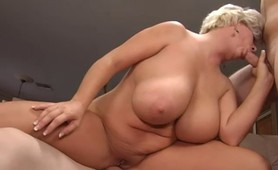 Big tit blonde M.I.L.F. Claudia-Marie getting double penetrated