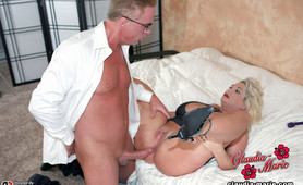 Anal Depth Check Is Performed On Huge Tit Claudia-Marie As Her Big Floppers Are Stretched