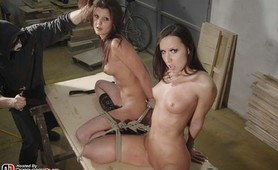 Twin captives, Nicole and Angie, experience the ultimate in torture and terror