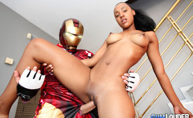 Iron Man bones a lating bitch