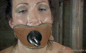 Nipple clamps and intense bondage