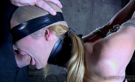 Extreme bondage, pain and nipple pumping