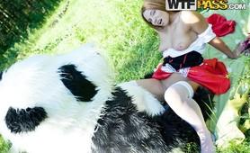 Fun fucking with crazy Panda
