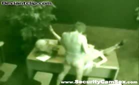 Horny office employees fucks on security cam