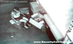 Security cam caught employee masturbating