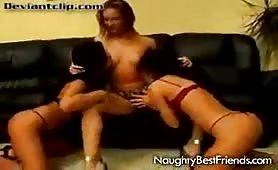 Super hot and naugthy lesbians on the couch