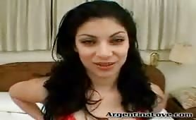 Exotic Argentinian beauty sucks and facialized