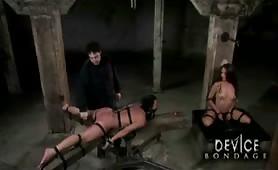 Bondage slave shocked and tortured