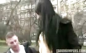 European babe slammed by stranger