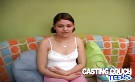 Pretty teen casting sex audition gets loads of cum