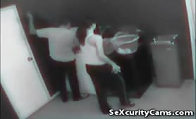 Sexcurity cam caught couple laundry room fuck