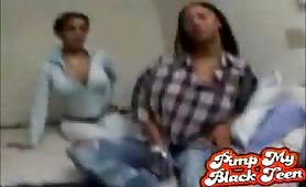 Ghetto Black teen whore slammed by huge cock