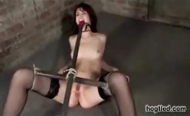 Faith Leon bound and taken to orgasm