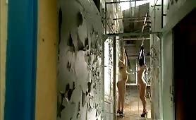 Sick bdsm slut in chains fetish torture