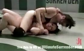 Tough lesbian hotties naked wrestling fight