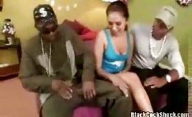 Lovely teen Jaena ghetto interracial threesome