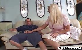 Reward from big tits milf Mrs. Lumbkin