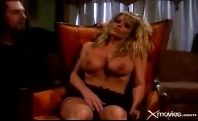 Strict masters blonde busty slave