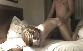 Slutty Girlfriend filmed fucking in a hotel