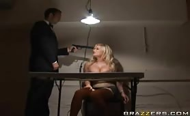 Shyla Stylez threesome fucking in the helicopter