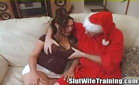 Horny Santa Has His Way With Desperate Mom