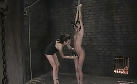 Slave bitch gets everything stuck in her pussy