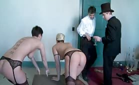 Extreme Domination Class Training Given For Guests At A Party