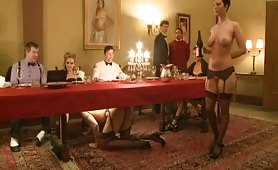 The nicest high class dinner where the waitresses are slaves