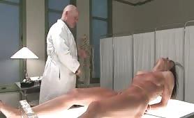 Sensual Brunette Slave is Kept Prisoner By Evil Doctor