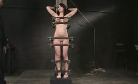 Brunette Slave Gets Punished