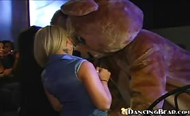Girls Go Crazy when they see the stripper Bear