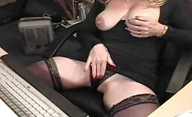 Horny Milf on her first webcam show