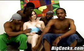 Extreme Bigcock interracial gangbang