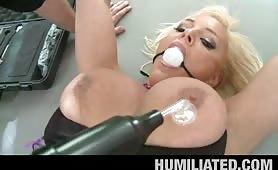 Humiliated milf whore brutal fucking