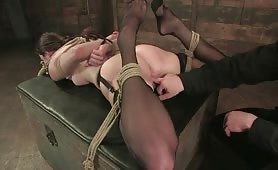 Hogtied Slave wont Escape this