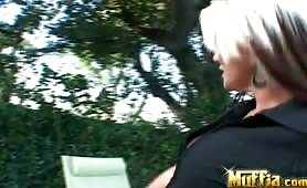 Bigtits blonde Threesome Thrilla