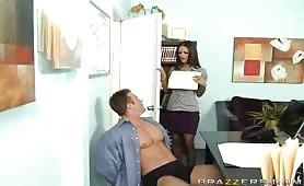 Lucky Boss Fucks Bigtits Office Girls