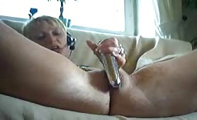 Huge Dildo Plugging Webcam show