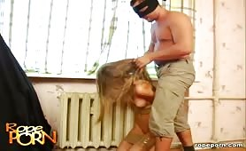 Hogtied bitch licked and fucked hard