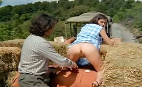Barn girl analled vintage action