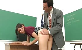 Naughty student punished fucking her teacher