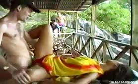 Hot gangbang vacation sex