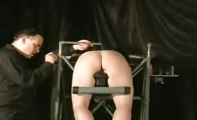 Asian slavegirl spanked and paddled on the Puzzle